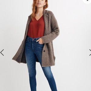 Madewell Bird's-Eye Sweater Coat